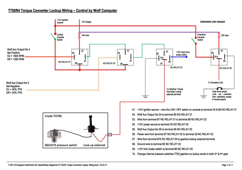 Torque Converter Lock Up Kit on 700r4 vacuum switch installation diagram